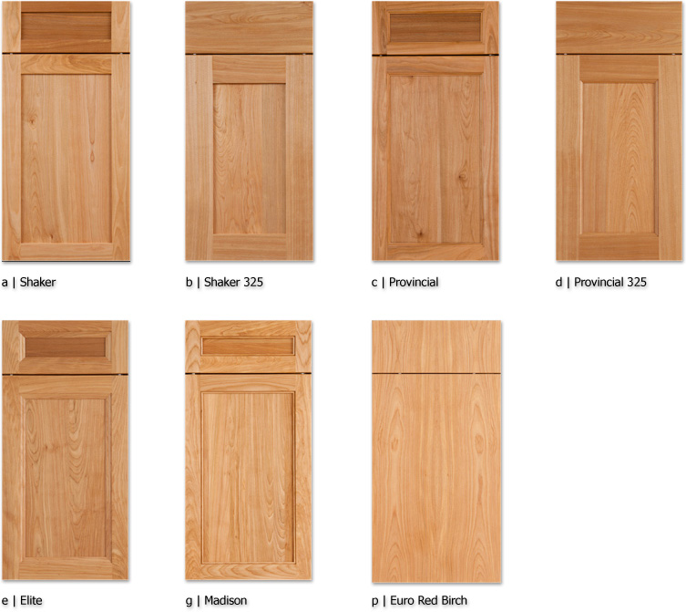 Red Birch Kitchen Cabinets: Detail Woodworking